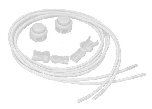 mumbi Elastische Schnürsenkel mit Schnellspanner - Schnellschnürsystem in Weiß