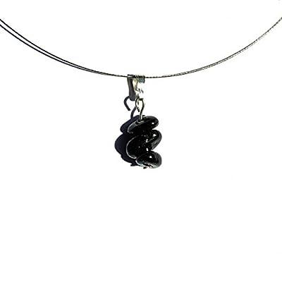 Bijou simple, pendentif tourmaline, collier simple, pendentif pierre argent, bijou tourmaline noire, collier pierre noire, bijou argent