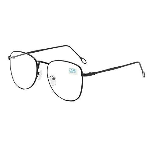 GEMSeven Fertige Myopie-glas-studenten-metallkurzsichtige Brillen Mit Grad (Grad Student Kostüm)