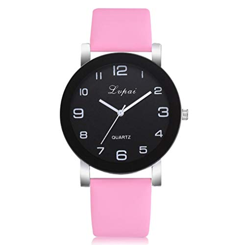 Kinlene Damen Beiläufige Quarz-Lederband-Uhr-analoge Armbanduhr Uhren