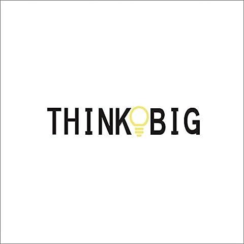QHGstore 12 * 58cm Think Big Pvc
