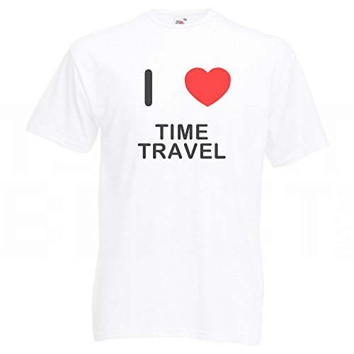 I Love Time Travel - T-Shirt Weiß