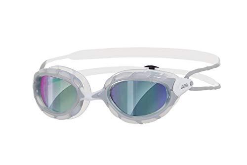 Zoggs Predator Schwimmbrille, Grey/White/Mirror, One Size (Predator Mirror)