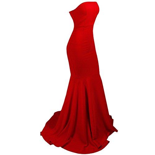 Missord - Robe de chambre - Bustier - Sans Manche - Femme Rouge