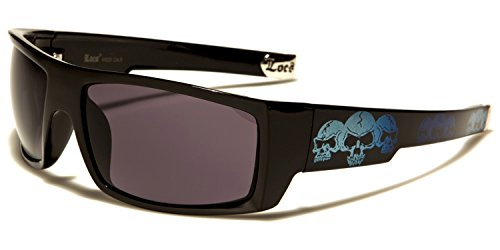 b6c361cfbb2 New Locs Rectangle Style - Black or White Frame with Skull Design and Dark  Lenses -
