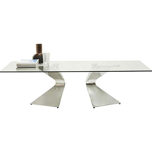 Kare Design - Table Basse Design en Verre et Chrome Gloria