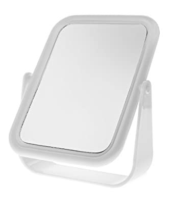 Blue Canyon Free Standing White Plastic Cosmetic Mirror - inexpensive UK light store.