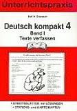 Deutsch kompakt 4. Band 1. Texte verfassen: Unterrichtspraxis. Arbeitsblätter mit Lösungen, Stations- und Karteikarten