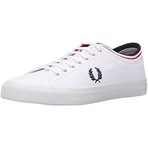 Fred Perry Woman Sneaker Kendrick Tipped Canvas White/Navy