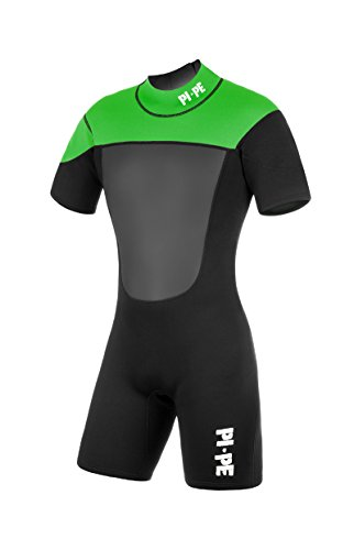 PI-PE Herren Neoprenanzug Active Spring Short Sleeve Green, M