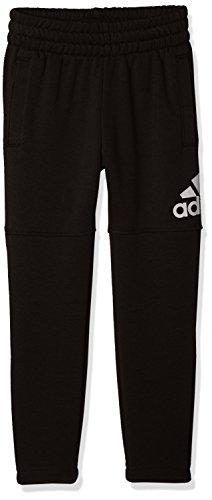 Adidas, pantaloni essentials logo, bambino, black/white, 152
