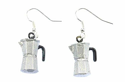 Coffee Percolator Coffee Pot Earrings Italy Miniblings Cafe Mocha Coffee Silver Espresso 31H3Ps 2BtV8L
