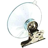 Pack of 2 suction cups with spring loaded clips.