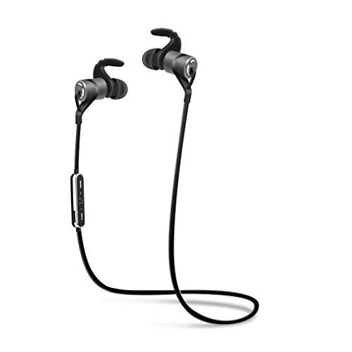 XUNMAIF BTE Bluetooth-Kopfhörer,3D-Stereo-In-Ear-Ohrhörer CVC 6.0-Rauschunterdrückung,6 Stunden Spielzeit Anschluss für 2 Mobiltelefone Gleichzeitig Wasserdichtes IPX5-Design, Gray