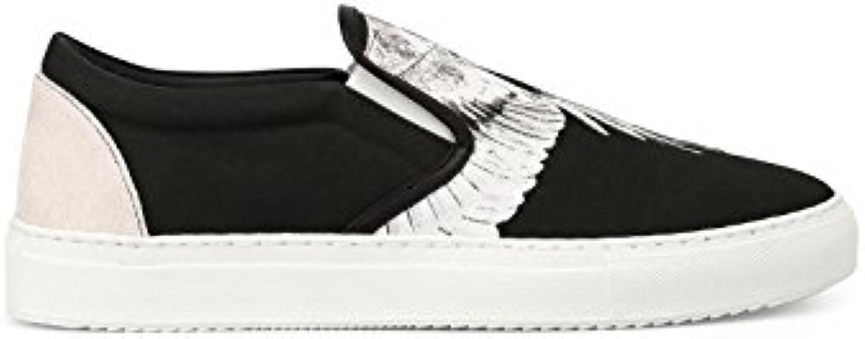 MARCELO BURLON Herren CMIA055S187330968800 Schwarz Leder Slip on Sneakers