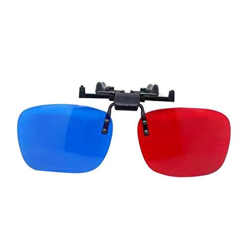 Multi Usage 3D Vision Brille Einfache Art-Rot-Blau Brille Anaglyph 3D-Brille Für Movie Game DVD Video TV