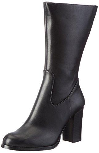 Buffalo Shoes Damen B109A-101 P1735A PU Kurzschaft Stiefel, Schwarz (Black 01), 37 EU