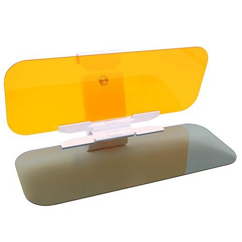 Auto-Sonnenblende, 2-in-1, HD-Auto-Visier, UV-Schutz, Blendschutz, Blendschutz, Sonnenschutz, Spiegel-Schutzbrille für Fahrbrillen