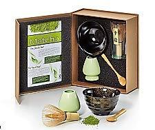 Cha Cult \'Set de té Matcha Danny de cerámica 4piezas Bol, cuchara, matchabesen y soporte