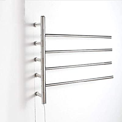 WRH-towel warmer Giratorio montado en la Pared de Acero Inoxidable eléctrico toallero/radiador Baño/Calentador de Toallas 9007