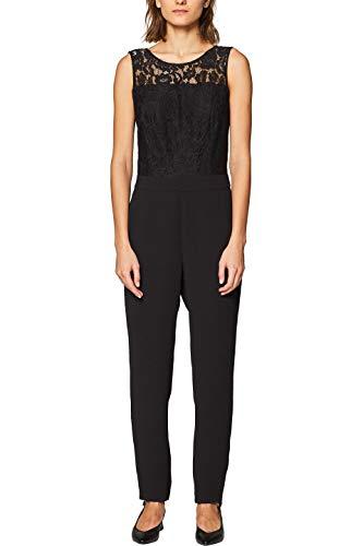 ESPRIT Collection Damen 039EO1L001 Jumpsuit, Schwarz (Black 001), (Herstellergröße: 40)