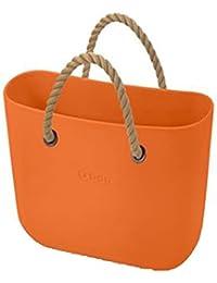 499bedb7d0 OBAG Borsa o bag mini arancio mattone sacca interna manico corto corda