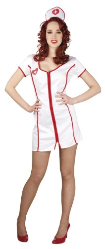 Luxe 87199 Damen-Kostüm Sexy-Krankenschwester, Einheitsgröße -Schwester-Ärztin-Krankenschwesterkostüm-M