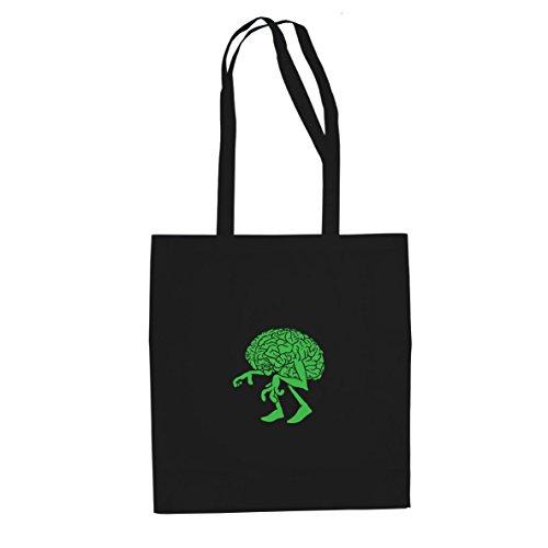 Walking Brain - Stofftasche / Beutel, Farbe: schwarz