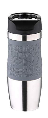 Bergner Reise-Thermobecher grau 400 ml Edelstahl