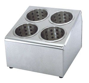 Flatware Cylinder Holder 4 Hole Stainless Steel for silverware 78287 by Update International