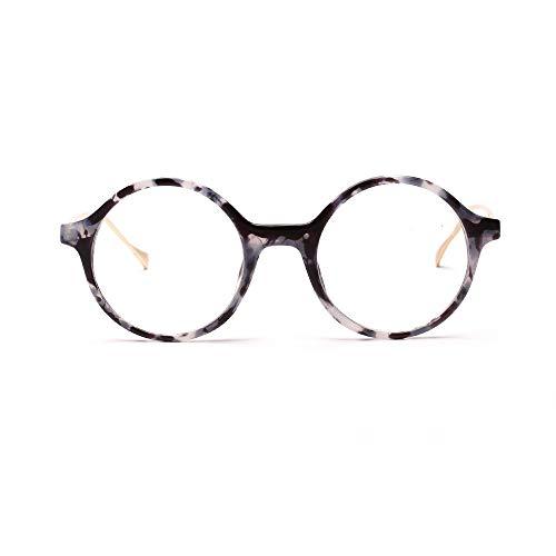 Easy Go Shopping Runde Retro Brillengläser, dekorative Gläser für Frauen und Männer. Sonnenbrillen und Flacher Spiegel (Farbe : Tretro Flowers)