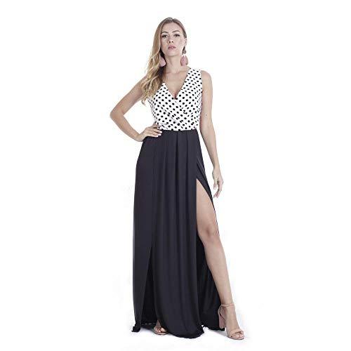 WWHEAT Neue Sexy tiefes V rückenfreie Kleid Polka Dot Kleid