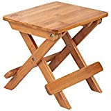 South–Taburete plegable (bambú, 28* 23* 27cm, portátil de exteriores (madera maciza silla de pesca taburete plegable