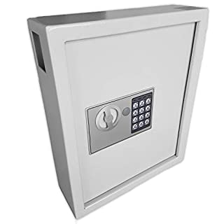 Futura 40 Key Safe Digital Key Cabinet Safe Box, Electronic Combination Lock, Wall or Floor Mounted, Steel High Security Storage Box Supplied with 40 Key Tags (H36cm x W30cm x D10cm)