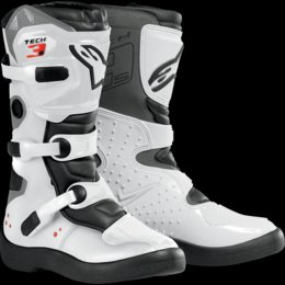 Alpinestars Youth Tech-3S - Botas (Talla 3), Color Blanco