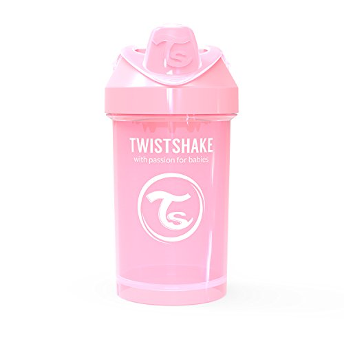 Vital Innovations 78273 Trinkbecher Twistshake Crawler Cup, 300 ml, rosa