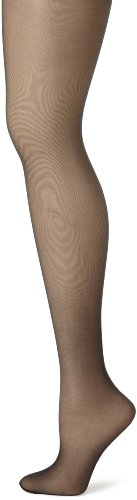 Hanes Silk Reflections Control Top Sheer Toe Pantyhose EF Black (Top Silky Sheer Control)