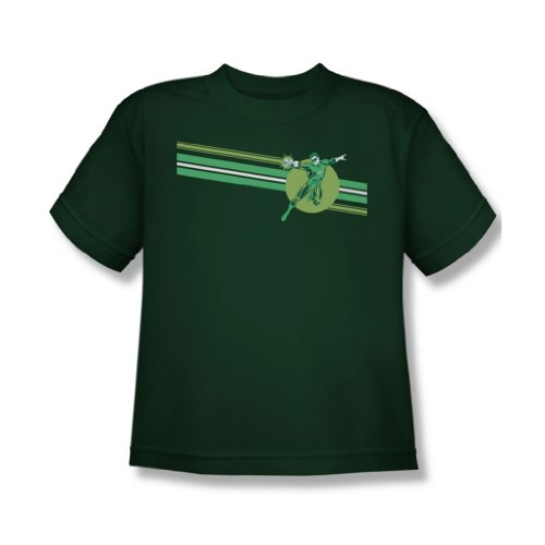 Dc Comics - Laterne Stripe Jugend T-Shirt in Green Hunter Hunter Green