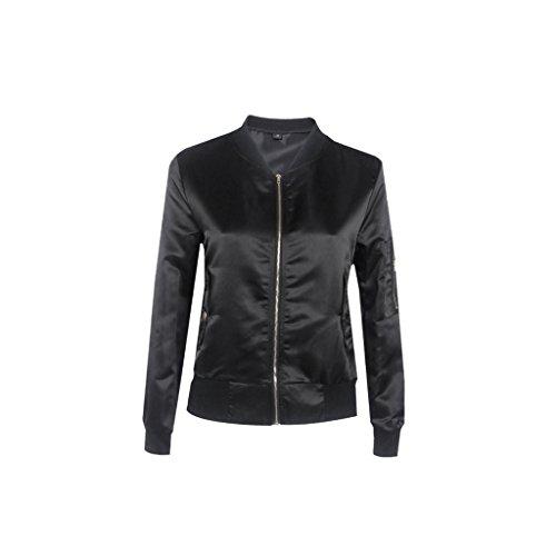 femme-fille-veste-de-sport-mince-col-montant-zippe-bombardier-veste-de-vol-cool-mode-noir-l