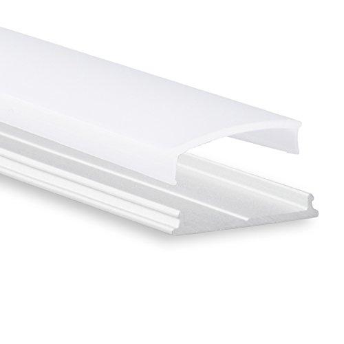 Biegsames LED Aluminium Profil P13 Atria LED Profil 2m biegbar für LED Streifen & LED Flexbänder inkl. Abdeckung Opal (milchige Abdeckung) LED Alu-Profil -