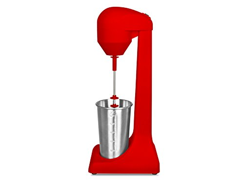 BEPER Batidora para el frappé, Acero, Rojo, 15 x 11 x 38 cm