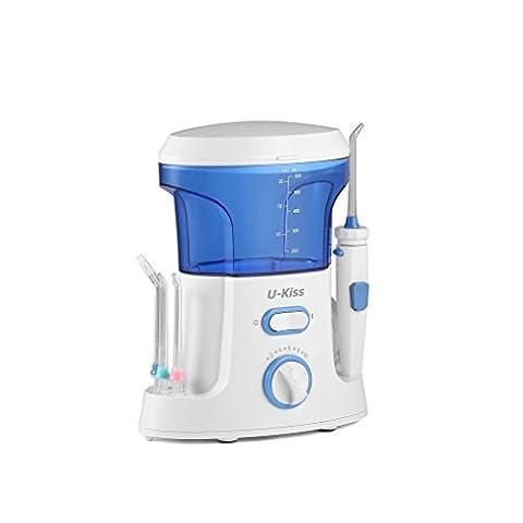 LESHP Hydropulseur Jet Dentaire pour Brosse à Dents Machine électriques 18W Dents d'eau Dentaires Dentisterie Powerfloss Irrigateur Nettoyage à Jet la Cavité Buccale Irrigator Orale Accessoires (18W)