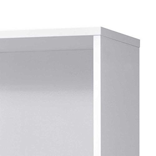 Aktenregal mit Türen und Schubladen Weiß Anthrazit Pharao24