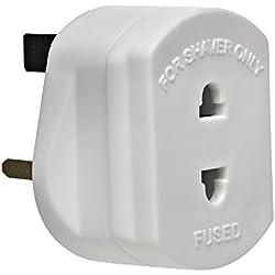 DabbersIT Adaptateur pour Rasoir et Brosse à Dents électriques à 2 pôles vers Prise à Trois pôles Britannique - avec fusible 1 A