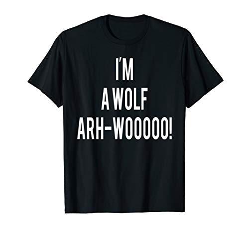 Wirklich Damen Gruselige Kostüm - Lustig Ich bin ein Wolf Werwolf wirklich gruselig gruselig T-Shirt