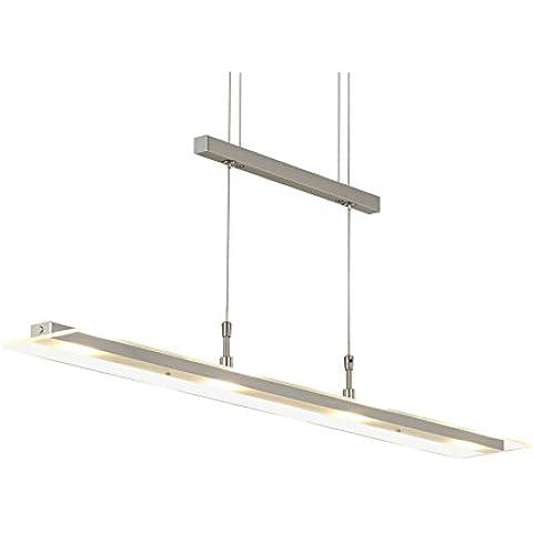 Briloner Leuchten - Lámpara colgante led, lámpara de techo, para salón, comedor, luz y altura regulable
