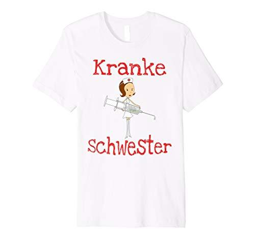 Krankenschwester Kostüm T-Shirt Oberteil   Kranke Schwester