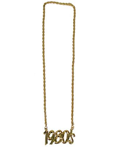 Funny Fashion 1980er Halskette 80er-Jahre-Schmuck Gold - 1980's Kostüm Schmuck