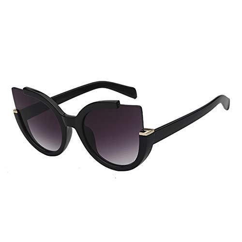 Daawqee Cat Eye New Vintage Sunglasses For Women Women Fashion Trendy Sun Glasses UV400 Points Cateye Retro Female Stylish Eyewear Black w smoke lens