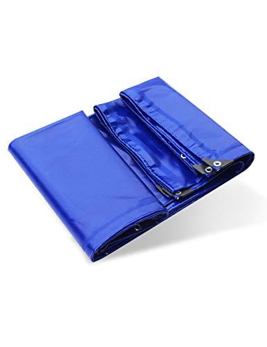 KCoob Couverture Poly-tarp Multi-usages Polyvalente Bleu foncé imperméable et résistante aux UV pour tentes, bâche de Protection pour abris de Camping, protecteurs Contre Le Vent, Jardin et mobilier